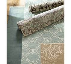 fringed hand loomed rug blue smoke pottery barn to buy