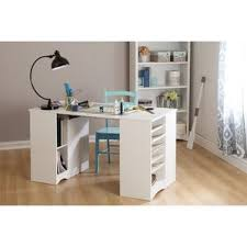 white craft desk with storage wayfair