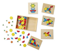 pattern block house template amazon com melissa doug pattern blocks and boards classic toy