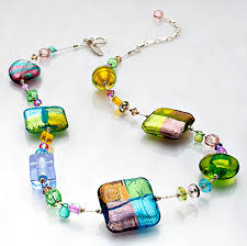art glass necklace images Primavera 18 art glass necklace women fashion jewelry marco polo jpg