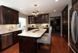 kitchen ideas with dark cabinets glass stainless steel hanging