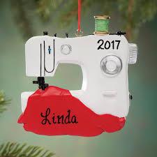 personalized sewing machine ornament ornament