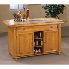 kitchen islands oak sunset trading julian kitchen island with sliding ceramic tile top