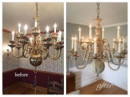 Upside Down Crystal Chandelier Best 25 Chandelier Makeover Ideas On Pinterest Brass Chandelier