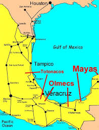 aztec map of mexico the olmecs and mayans