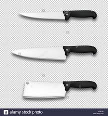 cutlery icon set vector realistic diffrent kitchen knives