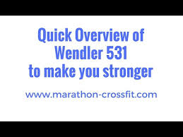 wendler 531 detailed 8 month review article video