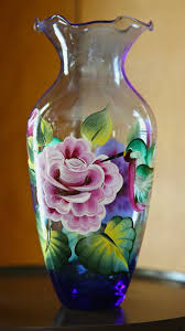 Flower Vase Painting Ideas Pictures Ideas Glass Painting Flower Vase Glass Vases Flower