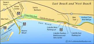 santa barbara california map east santa barbara