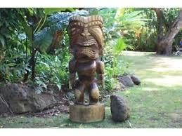 premium 40 large hawaiian tiki god ku statue outdoor acacia