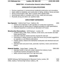 Construction Laborer Job Description Resume by Cool General Laborer Resume 16 General Labor Resume Samples