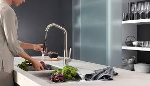 dornbracht kitchen faucets sync by dornbracht is an ultra modern kitchen mixer tap with