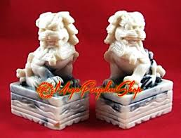 white foo dogs pair of feng shui foo dogs white