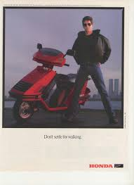 1985 lou reed honda elite deluxe scooter celebrity ads pinterest