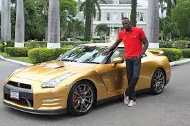 Nissan Gtr Gold - gold medals lead to golden nissan gt r for usain bolt