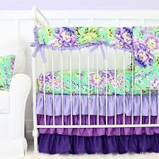Purple And Teal Crib Bedding Purple Bumperless Crib Bedding Caden