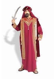 genie halloween costumes mens deluxe arabian sultan costume