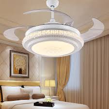 hidden ceiling fan light dining room led bedroom living room fan