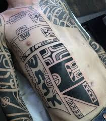 Mens Rib - top 40 best tribal rib tattoos for manly ink design ideas