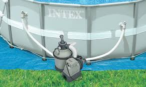 Intex Swimming Pool Pumps And Filters Intex 1200 Gph Krystal Clear Above Ground Pool Sand Filter Pump