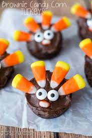 brownie turkeys corn brownies and thanksgiving
