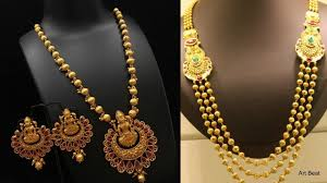 gold beaded necklace images Latest gold bead necklace haram gundla mala designs beautiful jpg