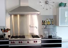 kitchen backsplash stainless steel stainless steel kitchen backsplash in modern kitchen