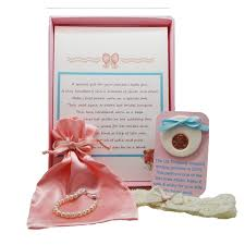 bridal gift keepsake baby to bracelet gift set baptism or christening gift