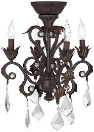 Chandelier Ceiling Fans With Lights 4 Light Rubbed Bronze Chandelier Ceiling Fan Light Kit