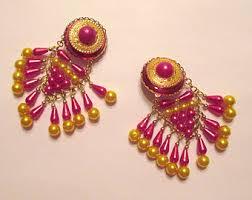 gaudy earrings gaudy earrings etsy