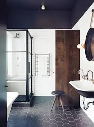 Small Bathroom With Black Hexagon by This Is Scandinavian Design At Its Finest Shower Tiles Bathroom
