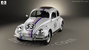 volkswagen beetle classic herbie 360 view of volkswagen beetle herbie the love bug 1963 3d model