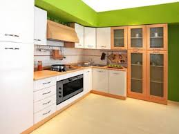 kitchen wood kitchen with lime green color splashes on the