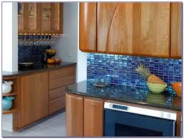 Blue Mosaic Linear Glass Tiles Backsplash Home Improvement - Linear tile backsplash