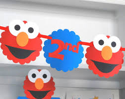 elmo birthday elmo birthday banner etsy