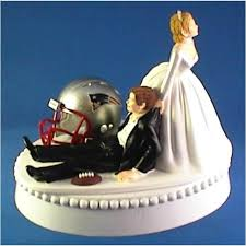 sports cake toppers sports wedding patriots wedding cake topper 2061258 weddbook