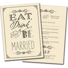 Eat Drink And Be Married Invitations Olivia Samuel Wedding Invitations