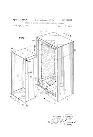 Cabinet Assembly Patent Us3440308 Method Of Making A Refrigerator Cabinet