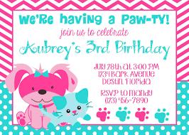 Invitation Birthday Party Card Puppy Birthday Invitations U2013 Gangcraft Net