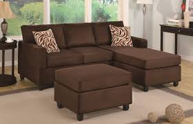 Sectional With Ottoman Collection In Sectional With Ottoman Chocolate Sectional Ottoman