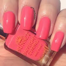 the polish list barry m sunset daylight curing nail paint