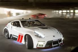 nissan 370z all black nissan and hoonigan u0027s black friday has two 1 000 hp cars and an