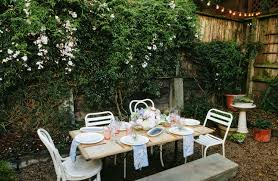 have a fancy outdoor party without buying a ton of fancy things