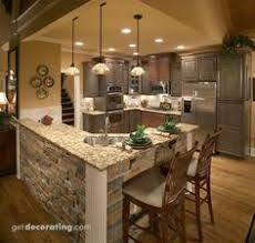 l shaped island in kitchen image detail for cabin room bar kitchen design pictures