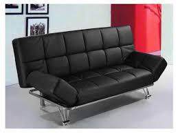 canapé simili cuir noir canapé clic clac simili cuir noir décoration d intérieur table