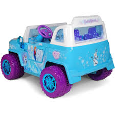 purple barbie jeep disney frozen suv 12v battery operated ride on walmart com