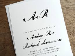 modern wedding invitation get modern wedding invitations from e m papers a practical wedding