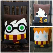 Harry Potter Bed Set by Wizard Pillow Harry Hermione Ron Luna Draco Plush