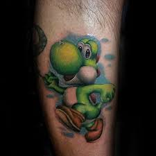 60 yoshi tattoo designs for men nintendo ink ideas