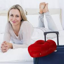 bourgeoisie red premium travel pillow luxury valour color u2013 enzo